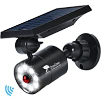 Solar Lights Outdoor Motion Sensor, 1400-Lumen Bright LED Spotlight 9-Watt(130W Equiv.), Solar Security Lights for Garden Driveway Patio, 2-Year Battery Life, 160-Week 100% Free