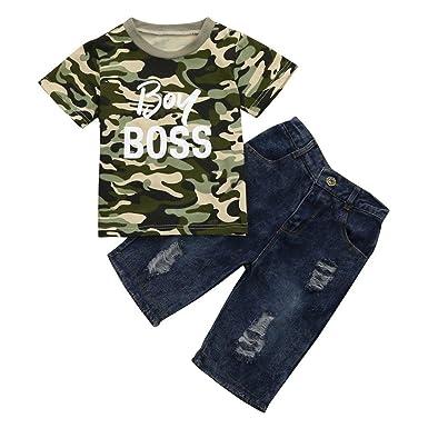 Amazon.com: DIGOOD - Camiseta de manga corta para niños de 1 ...
