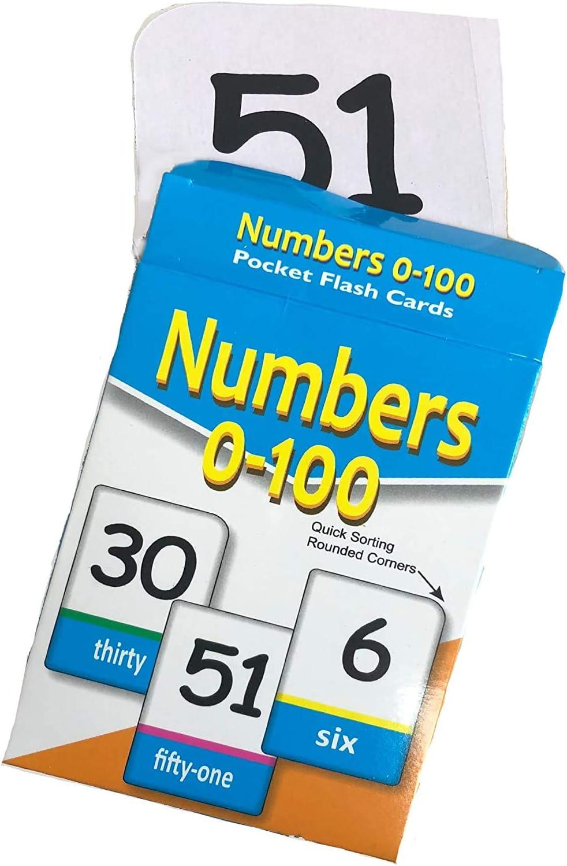 rsenterprise Flash Flashcards Kids Number Cards Kinder Garden Play Pocket 0-100 Learning Activity