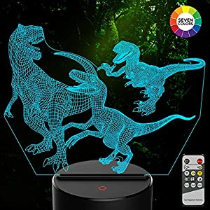 Win A Free AMIVOO Dinosaur 3D Night Light for Kids – 7 Colors Changing…
