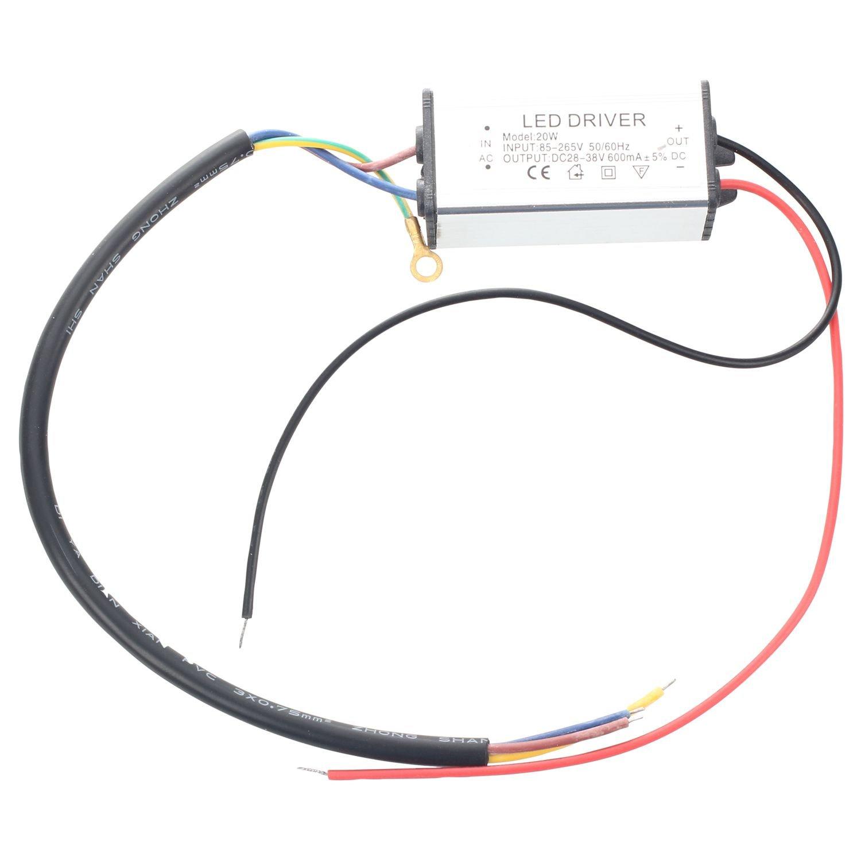 Transformer Toogoorled Lamp Driver Power Supply Dc 38v Wiring Diagram 36v 20w Waterproof Diy Tools
