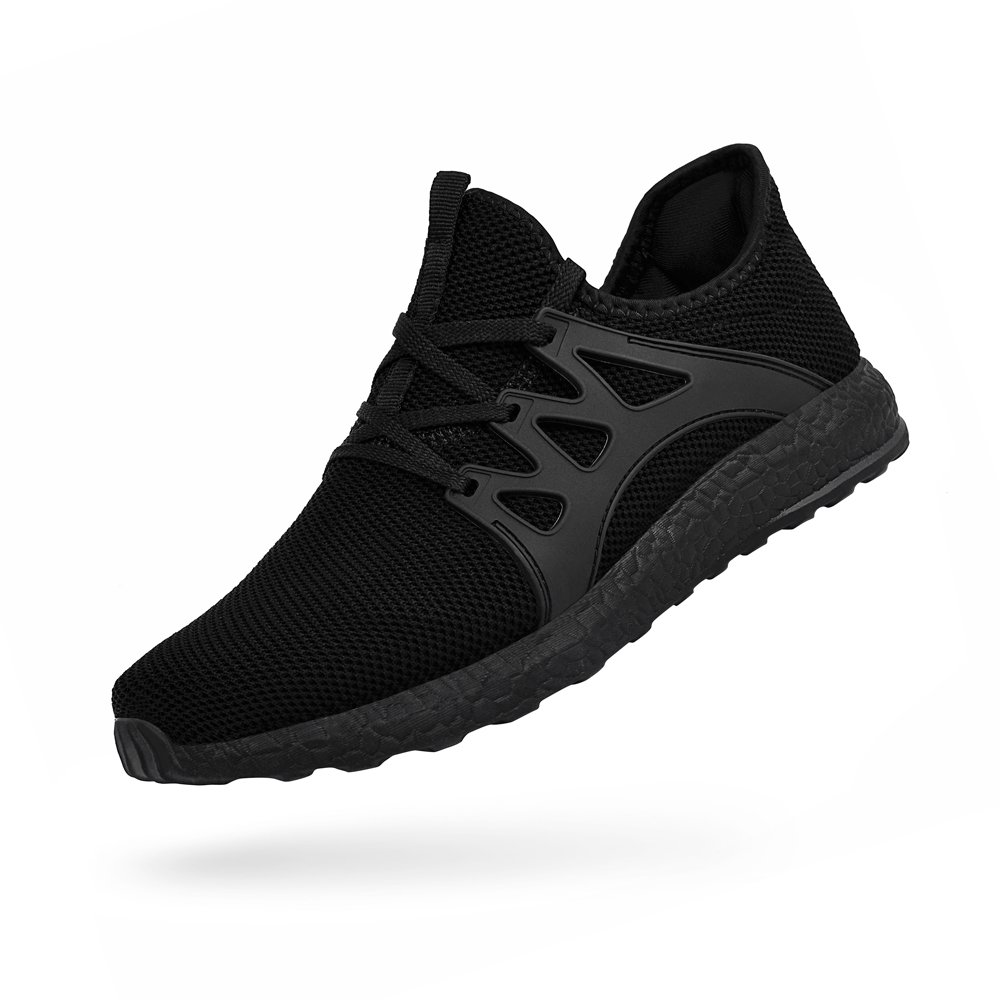 Troadlop Womens Fashion Sneakers Ultra Lightweight Knitted Running Shoes Athletic Casual Walking, Black-9 US