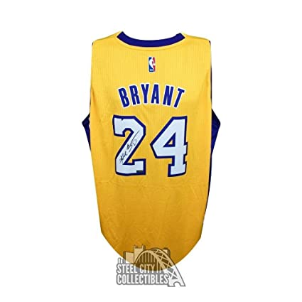 ca3c5c1b12d Signed Kobe Bryant Jersey - Swingman Gold Panini - Panini Certified -  Autographed NBA Jerseys at Amazon's Sports Collectibles Store