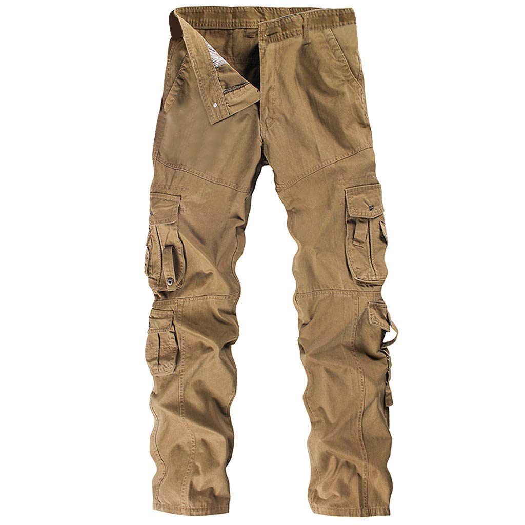 Allywit Mens Loose Fit Cotton Casual Military Army Cargo Camo Combat Work Pants Big and Tall by Allywit-Pants (Image #1)