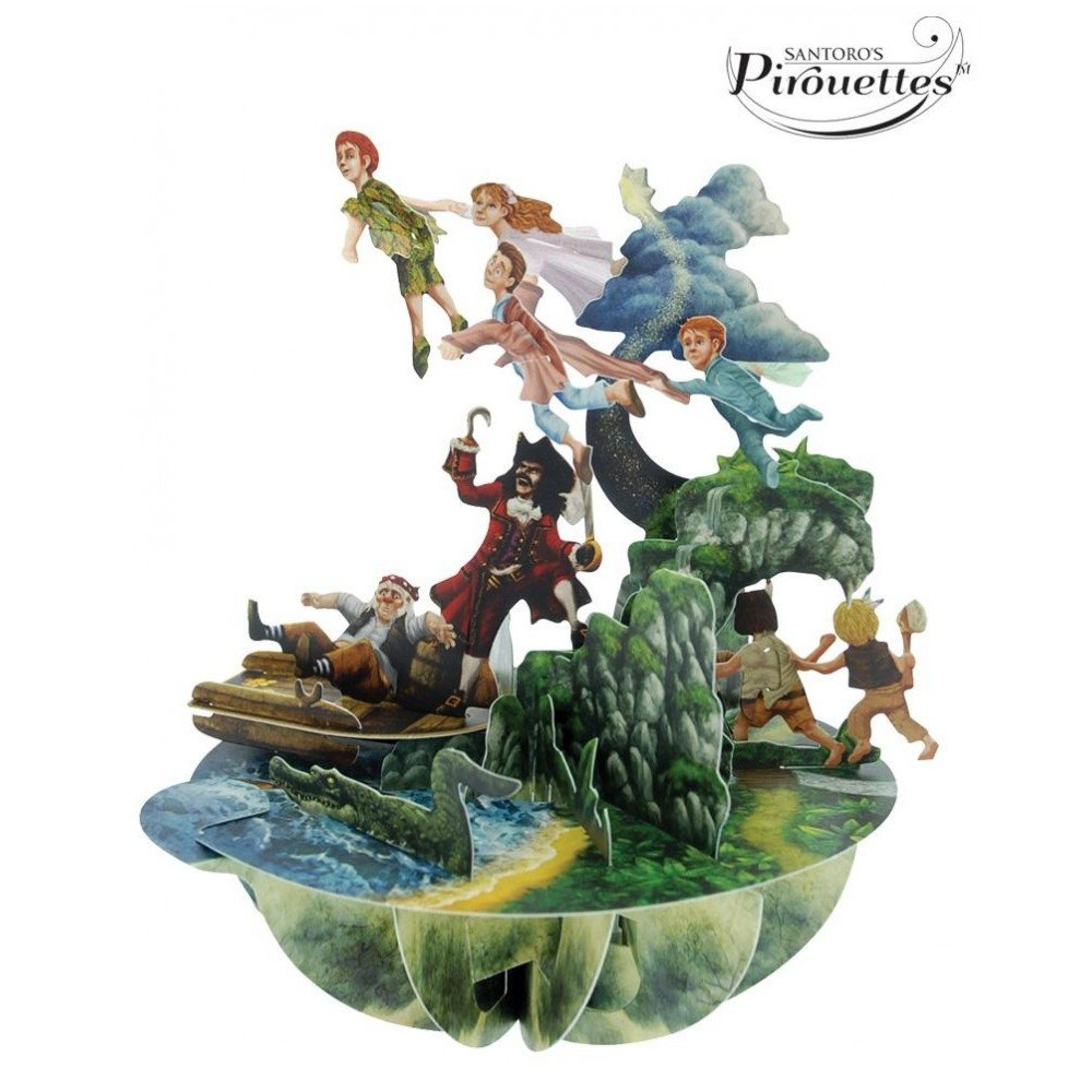 Santoro 3D Pirouette Pop-Up Greeting Card - Peter Pan Santoro-London PS029
