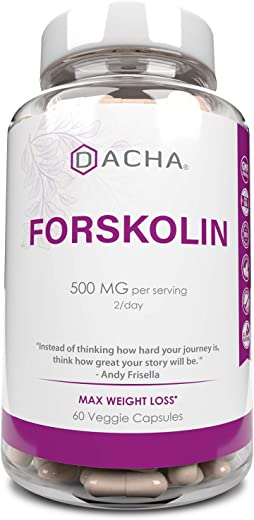 Natural Forskolin Max Strength Formula- 500mg Coleus Extract for Weight Management, Keto Diet Pills That Work Fast for Women & Men, Maximum Slim Look, Lose Fast for Women, Rapid Tone, Luna Trim, MD