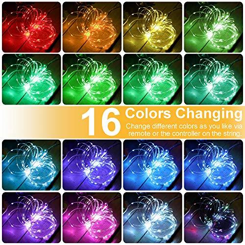 Gdealer 100 Led 16 Colors String Lights Electric Plug In