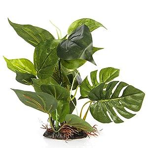 Green lifelike plastic plant