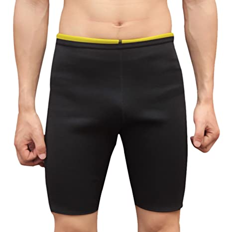 1a96855a776 Panegy Men Neoprene Sauna Shorts Compression Sweat Shapers Hot Slimming  Training Exercise Workout Pants for Weight