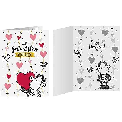 Tarjeta de cumpleaños - De corazones 23: Amazon.es: Oficina ...