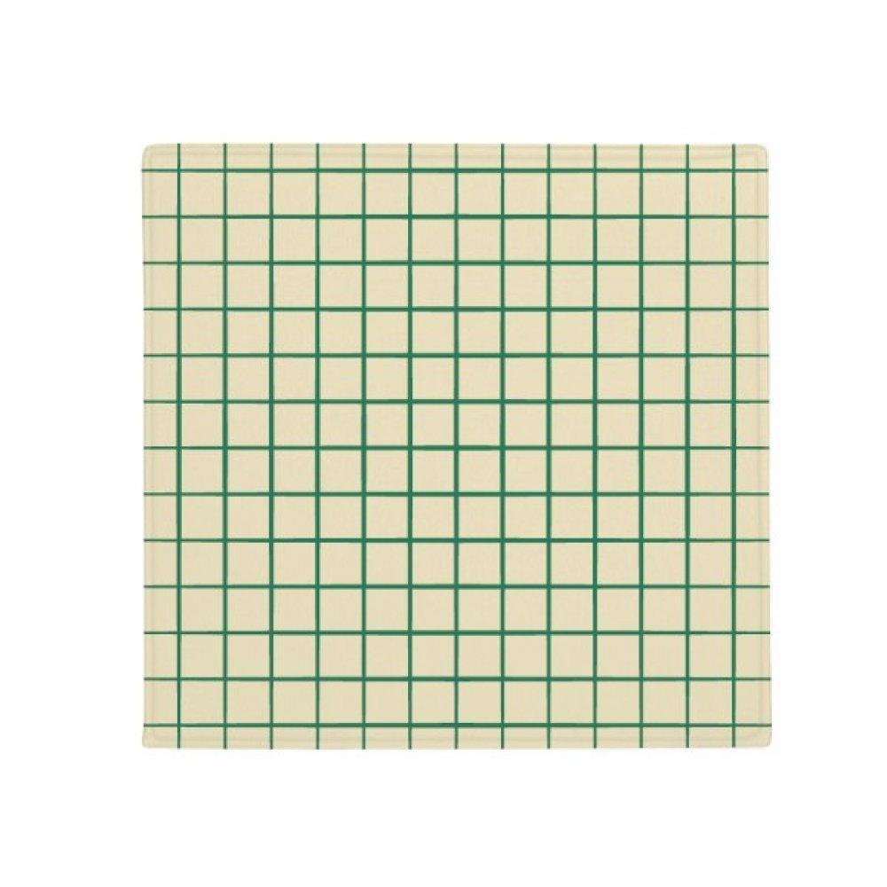 DIYthinker White Green Grid Decorative Pattern Anti-Slip Floor Pet Mat Square Home Kitchen Door 80Cm Gift
