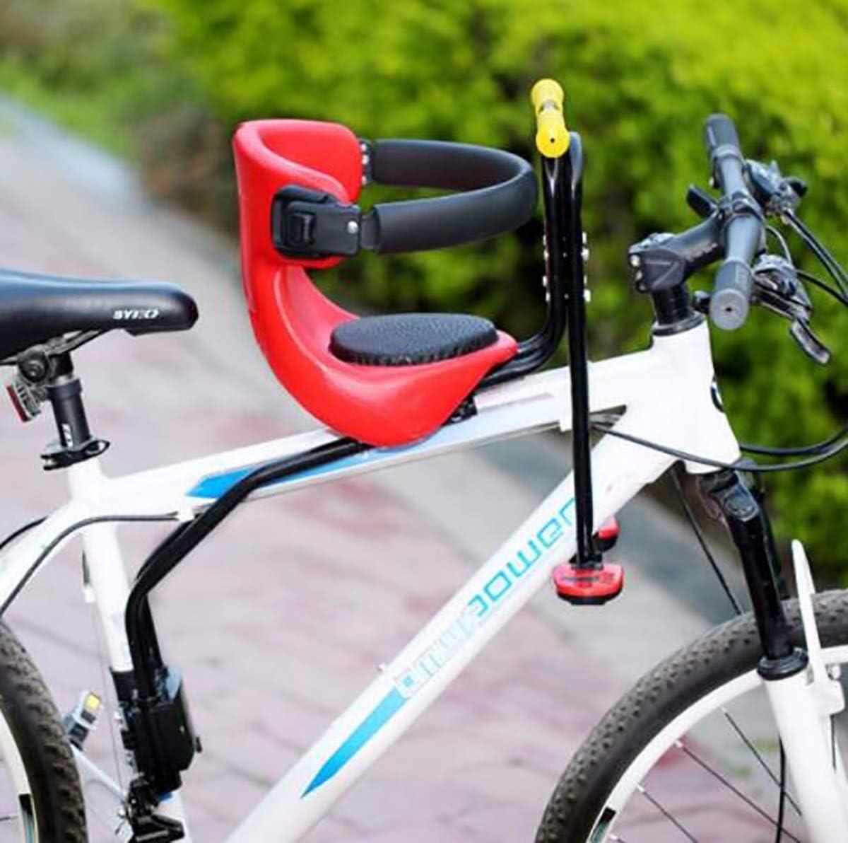 TQ Bicicleta de Carretera de montaña Asiento de Seguridad para niños Silla Delantera para Bicicletas para niños de 0 a 6 años,A: Amazon.es: Deportes y aire libre
