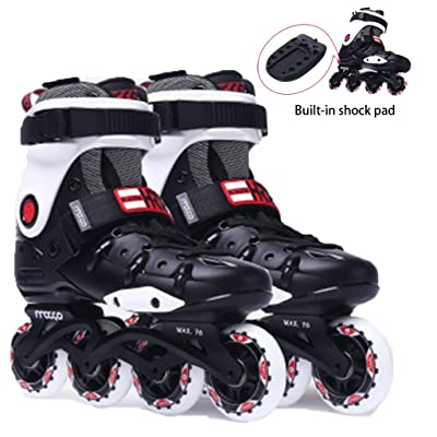 Roller Skates Adult Fancy Flat Shoes for Men and Women Inline Skates for Beginners High-Strength Anti-Collision Wear-Resistant Shoe Shell Removable Thick Memory Comfortable Liner: Home & Kitchen