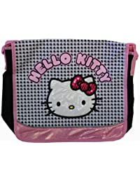 Hello kitty Friends Messenger Bag - Checkered Print Large Bag