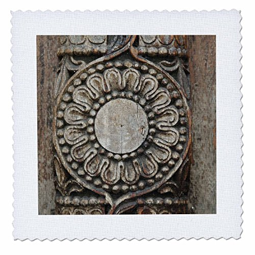 3dRose 3D Rose qs_75442_10 Tanzania: Zanzibar, Stonetown, Intricate Wood Carving-AF45 AJN0131-Alison Jones-Quilt Square 25-inch by 3dRose (Image #1)