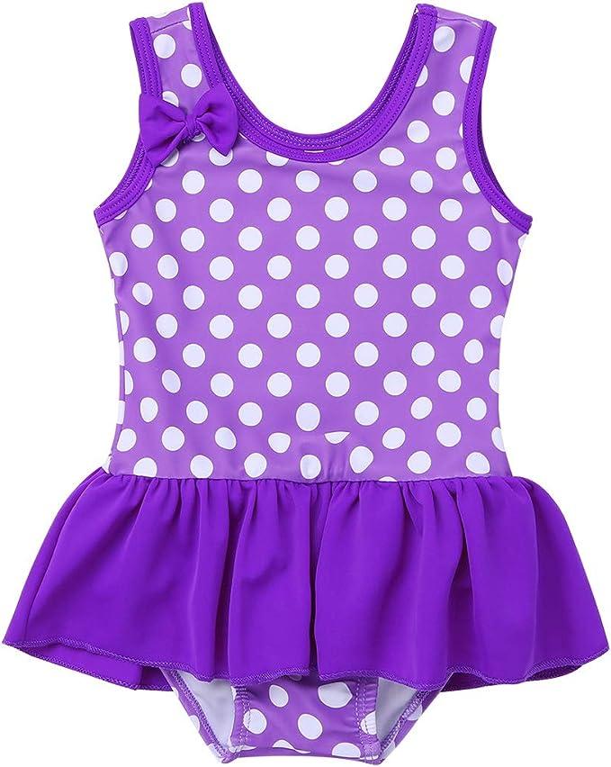 CHICTRY Baby Girls Toddler Cute Polka Dots Ruffle One Piece Skirt Swimsuit Swimwear