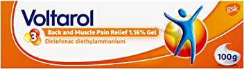 Voltarol Back and Muscle Pain Relief 1.16% Gel, 100g (Packaging may Vary)