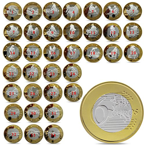 Roboco Commemorative Coins, 34pcs Sex Coins Gold Plated Commemorative Sexy Art Collection Gift Full Set, US Mint