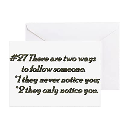 Amazon cafepress rule 27 there are two ways to follow cafepress rule 27 there are two ways to follow someone greet greeting card m4hsunfo