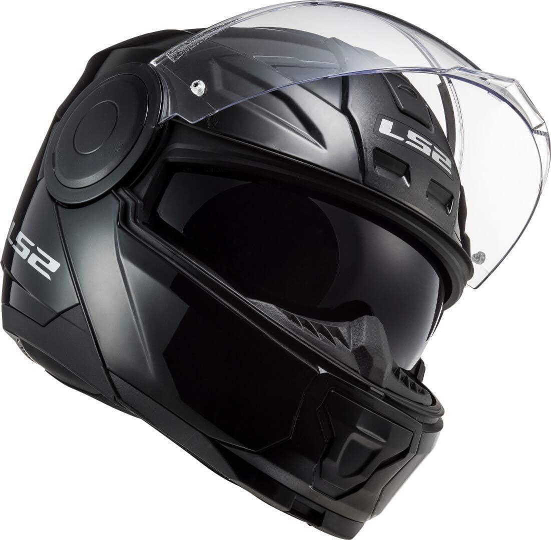 LS2 FF902 Scope Solid Gloss color negro Casco de moto