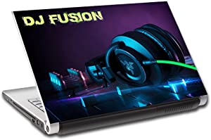"""DJ Turn Tables Music Personalized LAPTOP Skin Decal Vinyl Sticker ANY NAME L736, 10"""""""