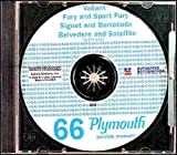 1966 PLYMOUTH REPAIR SHOP & SERVICE MANUAL & BODY MANUAL CD INCUDES: Barracuda, Belvedere, Belvedere I, Belvedere II, Satellite, Fury, Fury II, Fury III, Sport Fury, VIP, Valiant V-100, V-200, Signet, and station wagons. 66