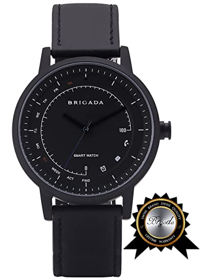 Amazon.com  BRIGADA No-Need-Charge Smart Watch for Men 8a8fa96b0220