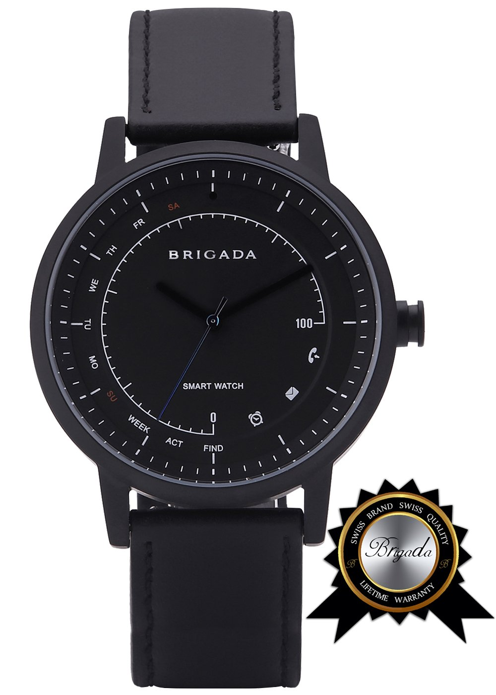 BRIGADA No-Need-Charge Smart Watch for Men, Cool Fashion Smart Watch for Android iphone, Best Innovative Smartwatch Combining Traditional Watch's Beauty with Modern Functions Like Exercise Track