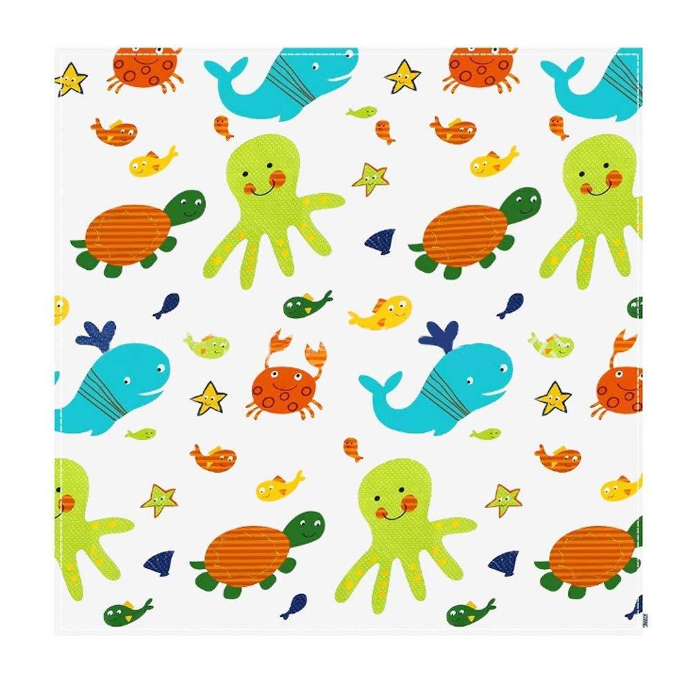 43'' Baby Highchair Splash Mat, Waterproof Washable Splat Mat, Floor Table Protector Cover (Arrow)