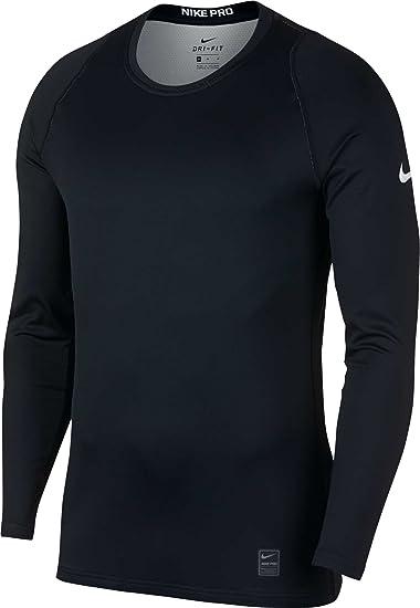 fce51379 NIKE Pro Men's Colorburst 2 Long Sleeve Shirt - Blk/Atmosphere Grey/White,