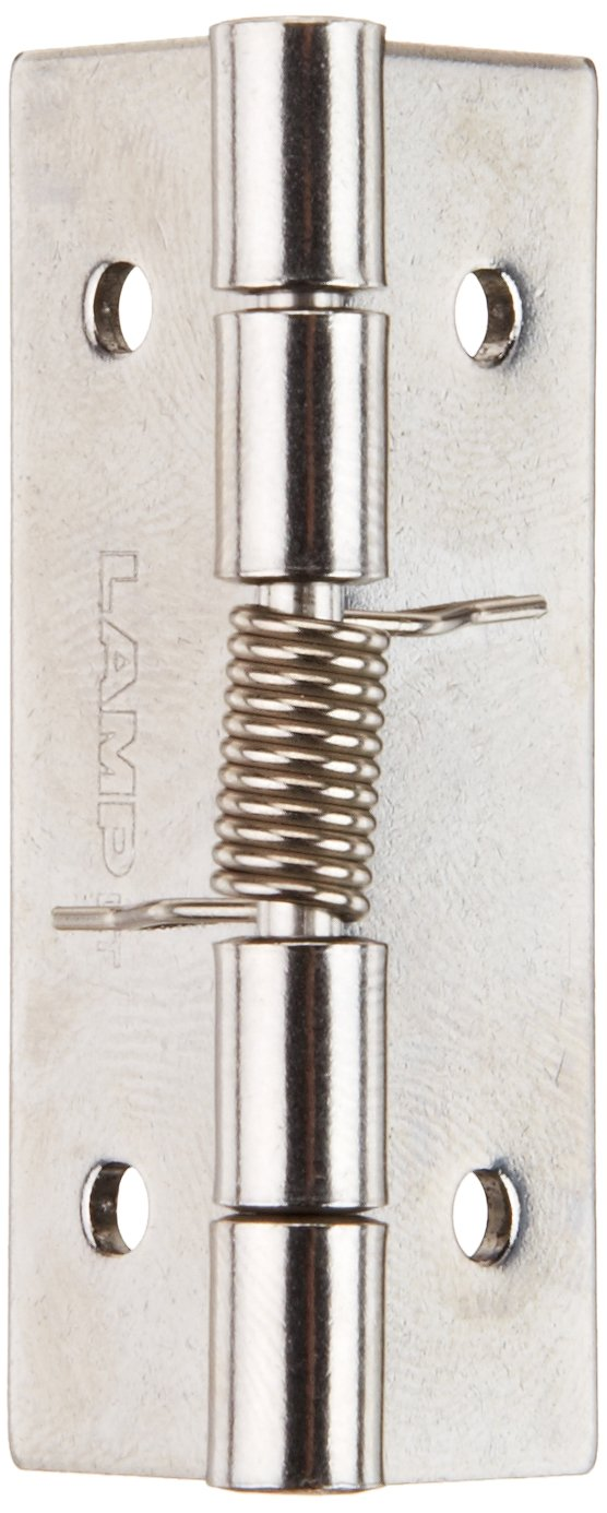 Sugatsune HG-SH51C Stainless Steel 304 Butt Hinge with Spring, Plain Finish, 1.5mm Leaf Thickness, 38mm Open Width, 6.5mm Pin Diameter, 51mm Height
