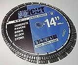 (2) Pack 14'' Turbo Seg. Diamond Blade 12mm General Purpose for Concrete, Brick, Block, Paver. Para uso general