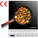 GASLAND chef IH20SL Induction Cooker Cooktop 2000W 240℃ with Touch Control Ceramic Plate Silver