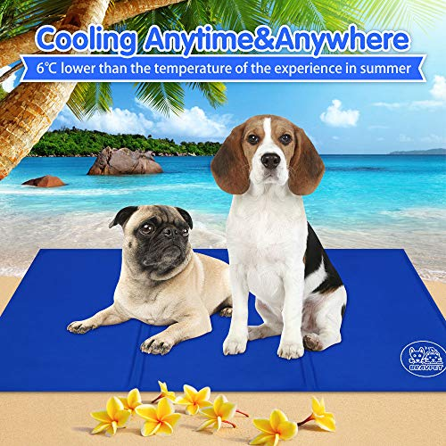 Bravpet Pet Cooling Mat Pet Self cooling pad mat bed mats Comfort for Cats and Dogs Large by Bravpet (Image #2)