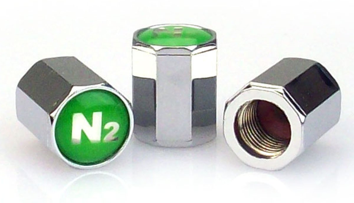 SKU 609 - 1,000 Chrome Plated ABS Valve Stem Caps with N2 Insert - 10mm Complete with Silicone Inner Seal