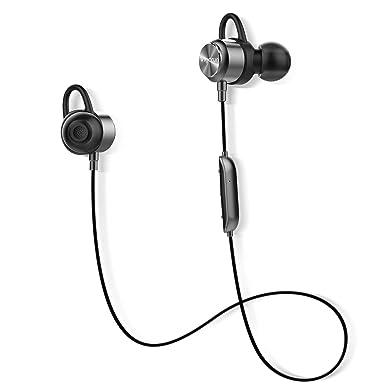 Auriculares Bluetooth, Vigorun magnéticos inalámbricos deportivos, auriculares de entrenamiento estéreo con micrófono para gimnasio