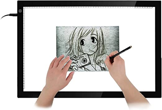 A3 Tablero de dibujo portátil LED Protección de la vista Touch ...