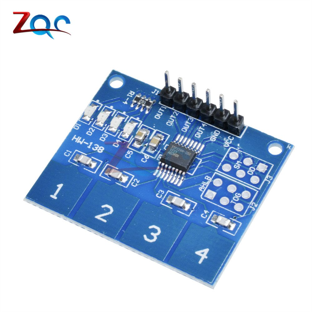 TTP224 4 Channel Switch Touch Sensor Digital Touch Capacitive Module