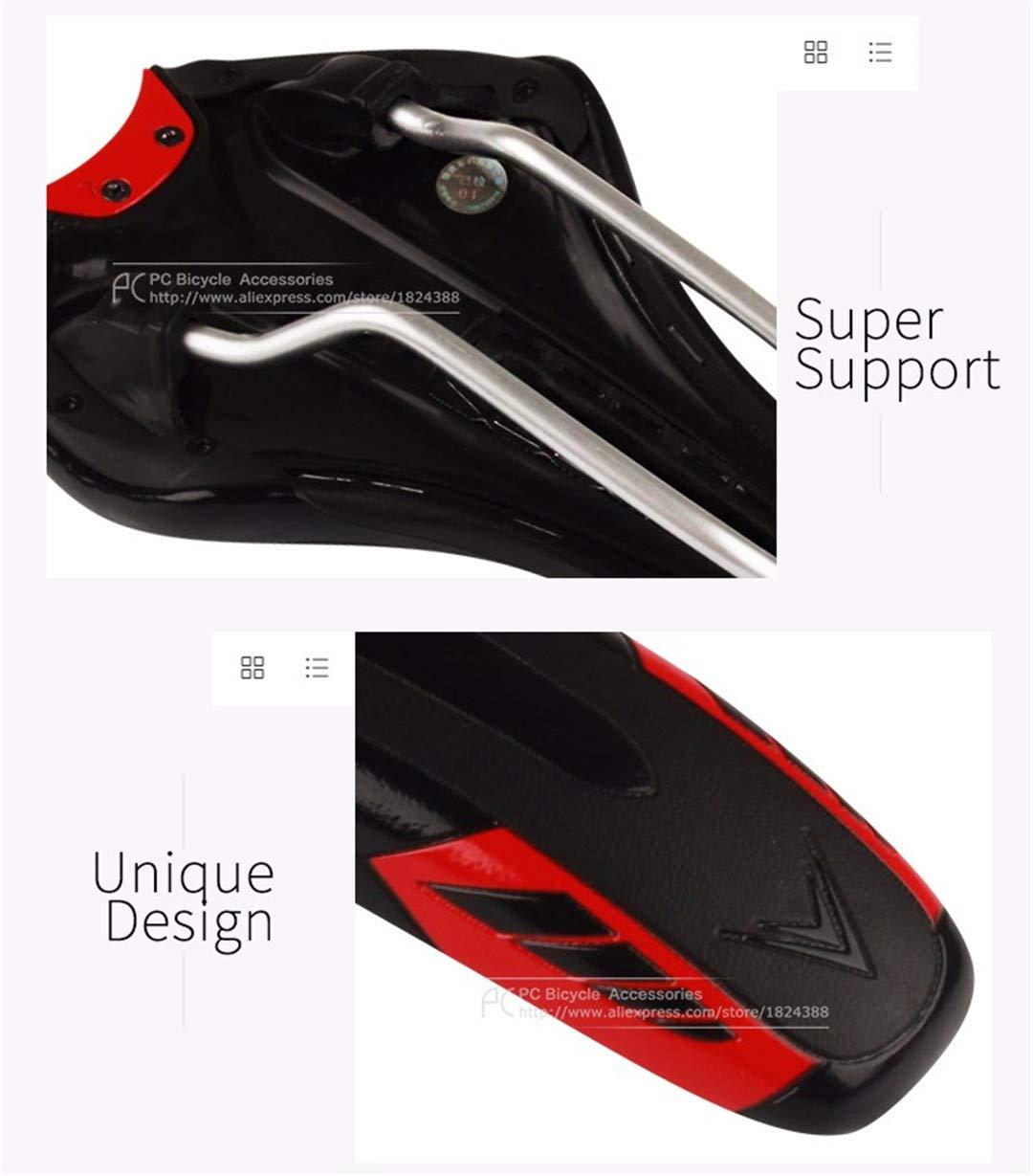 Tosnlve - Cojín de Piel Antideslizante para sillín de Bicicleta, Impermeable, para Bicicleta de montaña, Bicicleta de Carretera, Hombre Mujer Infantil, ...