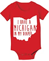 Michigan In My Diaper Funny Buckeyes State of Ohio Football Baby One Piece