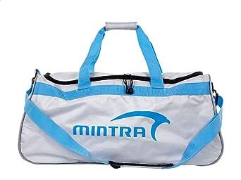 حقيبة رياضية للجنسين من البوليستر مطبوع عليها شعار الأمام من Mintra - رمادي وتركواز