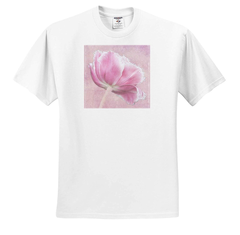 ts/_313771 Digitally Altered Tulip Pink Tulip Adult T-Shirt XL 3dRose Danita Delimont
