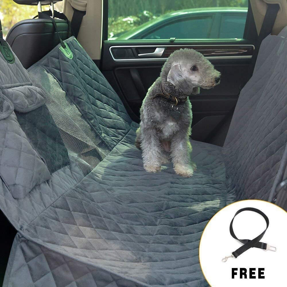 Grey LYJKJGS Dog Seat Cover Waterproof Scratch Proof Nonslip Back Seat Cover Heavy Duty Dog Hammock For Cars Trucks And SUV,Grey
