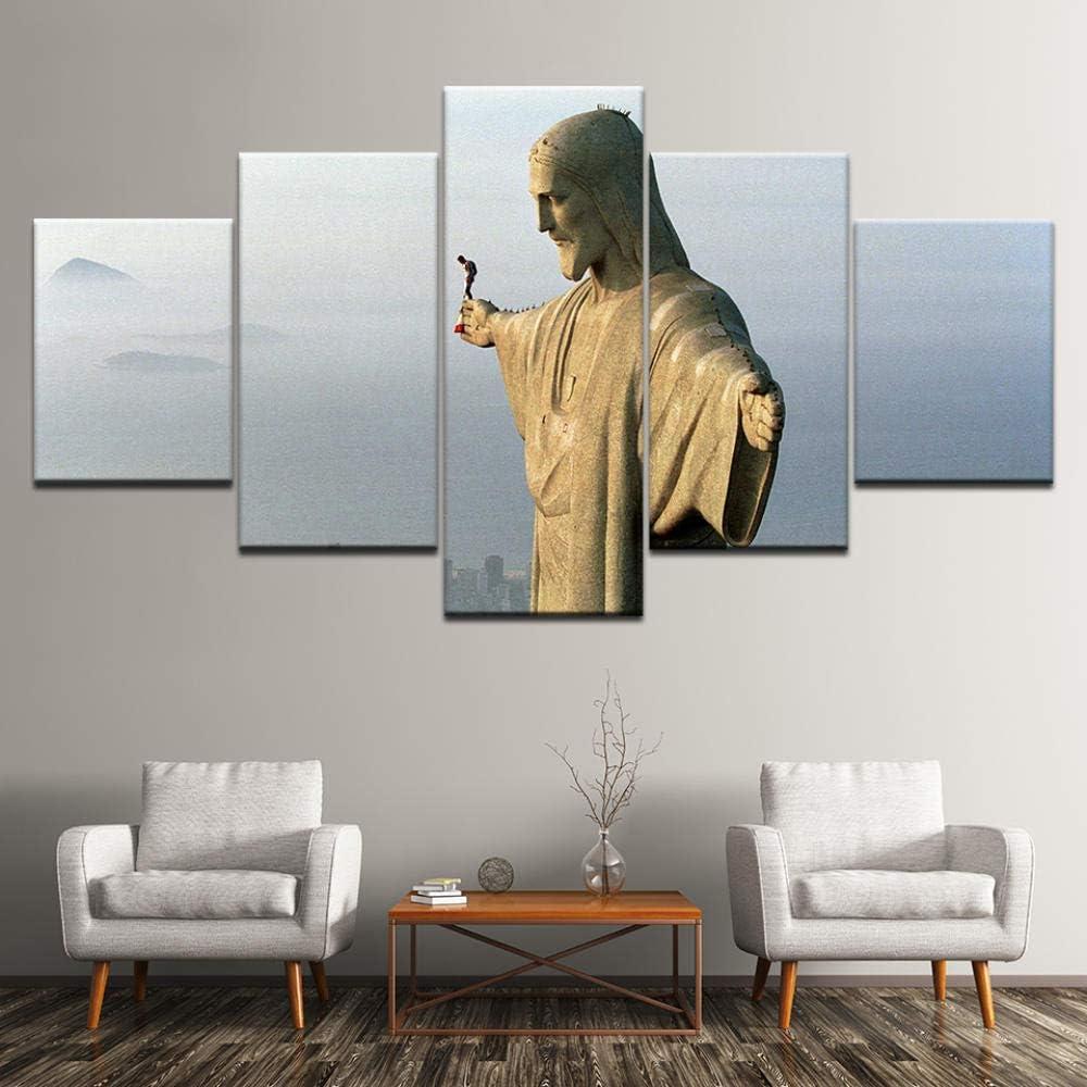 Unframed 20X35 20X45 20X55cm CANPIC Peinture sur Toile Felix Baumgartner Base sautant 5 Pi/èces Wall Art Peinture Modulaire Papiers Peintures Affiche Imprimer Home Decor