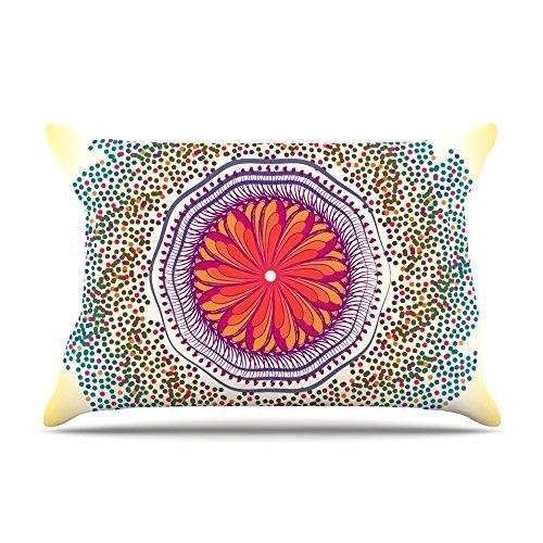 30 x 20 Kess InHouse Famenxt Romantic Love Pattern Pink Abstract Fleece Pillow Case
