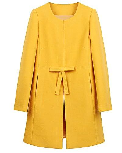 Mujer Chaqueta Larga de Elegante Abrigo Trench Jacket Coat Outwear