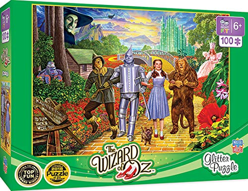 MasterPieces The Right Fit Kids The Wizard of Oz Jigsaw Puzzle, Glitter, Tillywig Top Fun Award, 100 Piece, for Age 5+