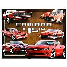 Chevy Chevrolet Camaro 45th Anniversary Tin Sign 13 x 16in