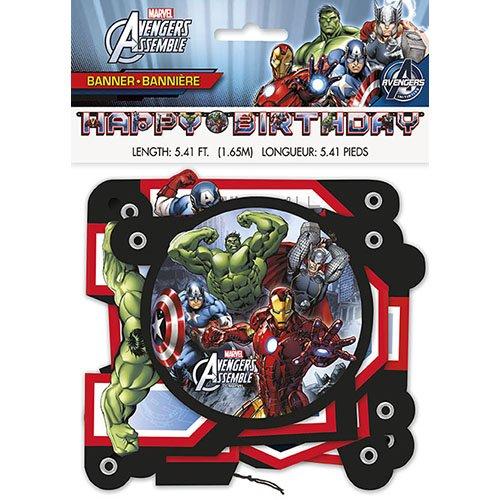5.41ft Avengers Birthday Banner