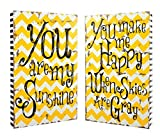 Set of 2 You Are My Sunshine Decorative Wall Plaques For Sale